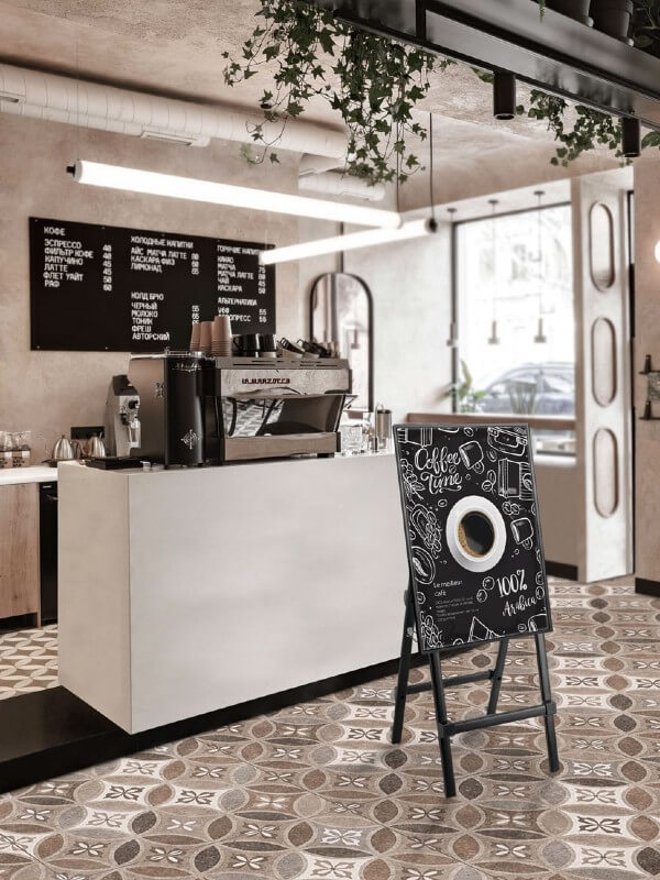 Chevalet numérique portrait paysage café