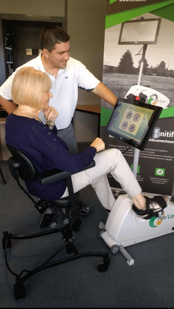 Vélo cognitif écran tactile