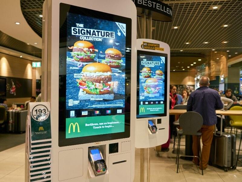 Borne de commande et paiement pour restaurants