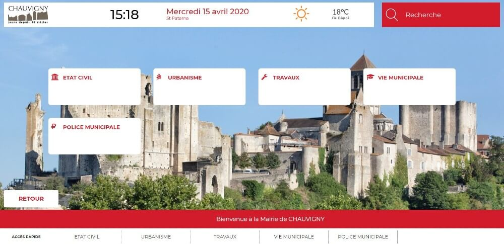 Application Datahall - Mairie Chauvigny - Affichage Légal