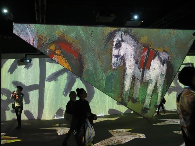 Picasso exposition projetée au mur