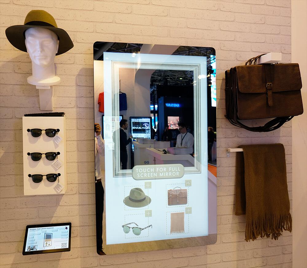 Miroir interactif tactile 50 pouces magasin