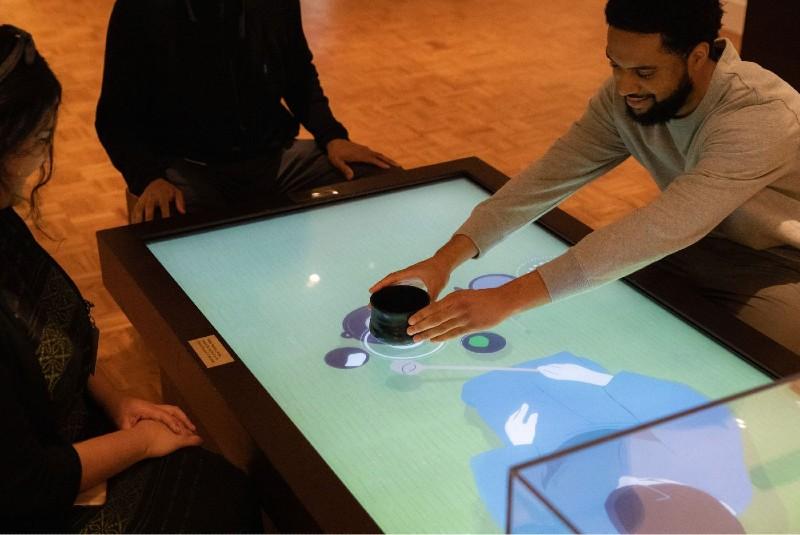 table interactive application cérémonie thé