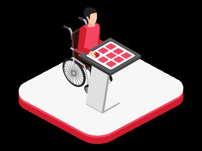 Navigateur internet pour personne avec handicap moteur