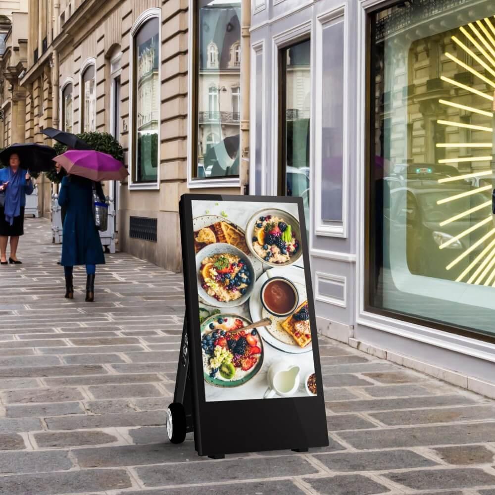 chevalet numérique 43 pouces restaurants brunch