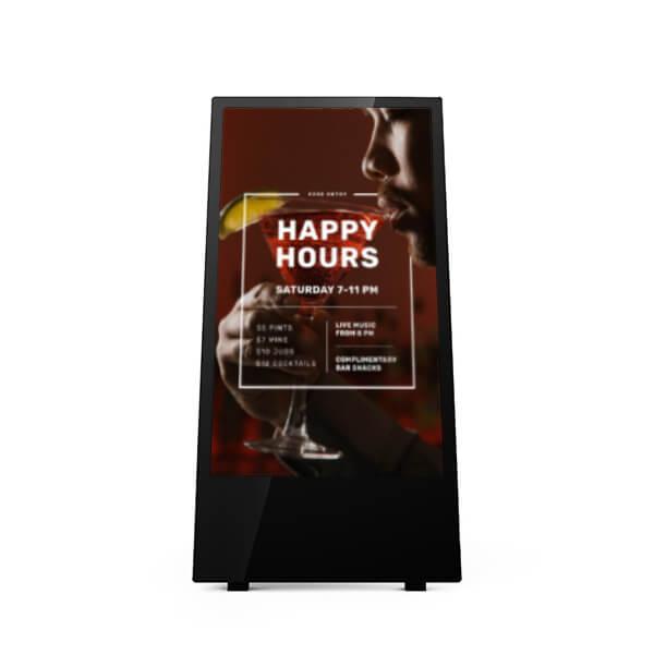 chevalet numérique 43 pouces bar happy hour
