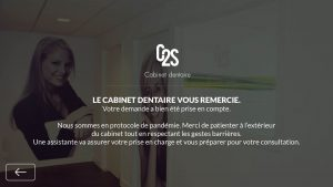Gestion de l'accueil des centres médicaux - Application cabinet dentaire - Validation