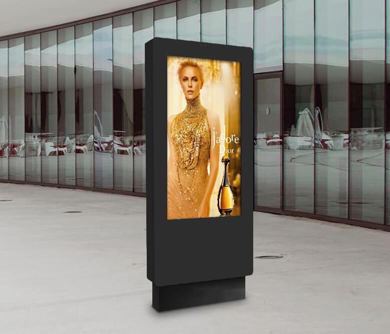 Totem affichage dynamique outdoor publicité