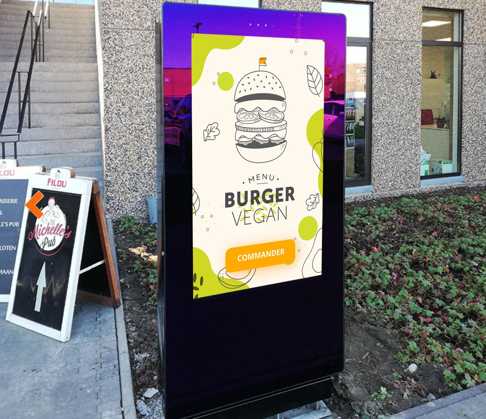 Totem tactile outdoor restaurant