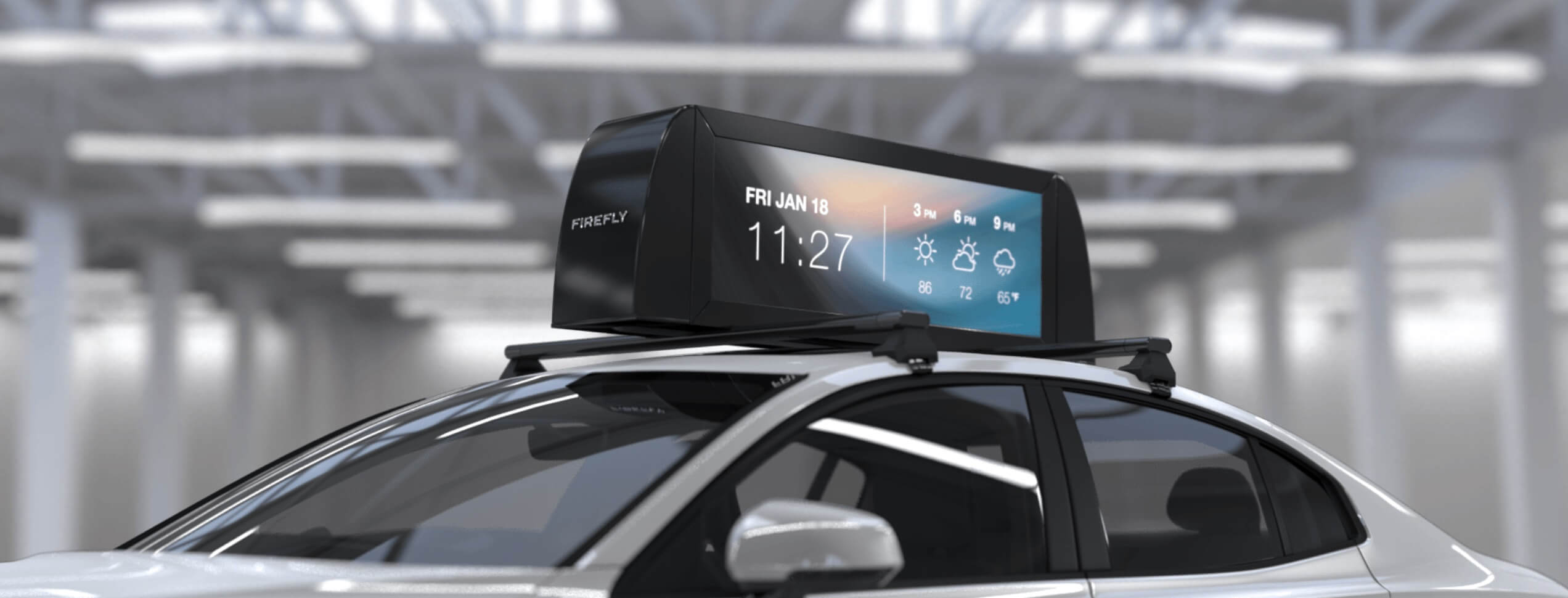 Uber borne interactive aéroport