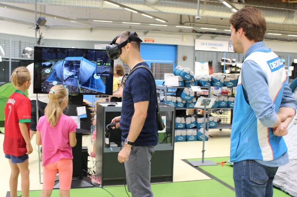 Decathlon magasin réalité virtuelle tentes