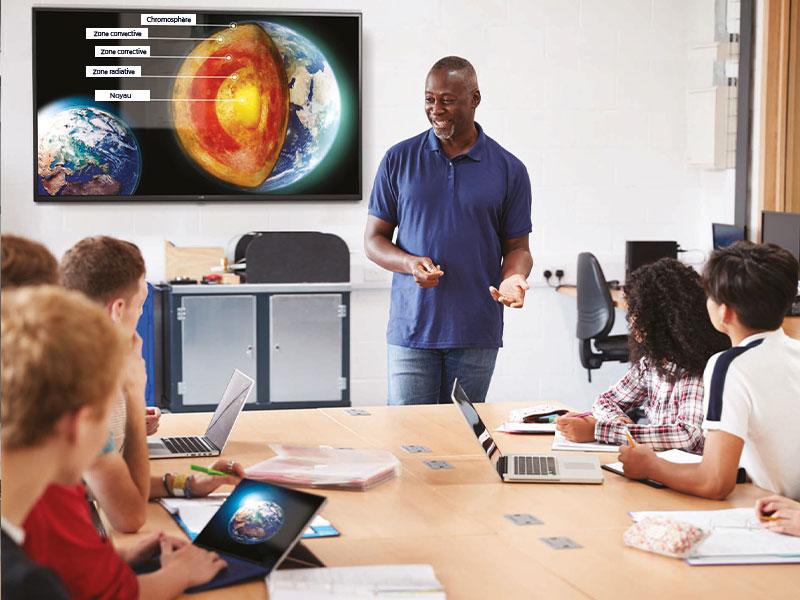 Affichage dynamique secteur éducation écran classe
