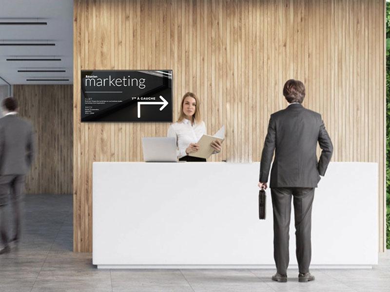 Affichage dynamique entreprise intérieur écran