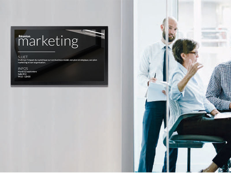 Affichage dynamique secteur entreprise réunion