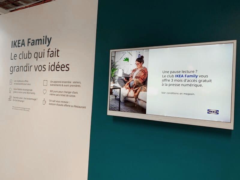 affichage dynamique ecran intérieur IKEA