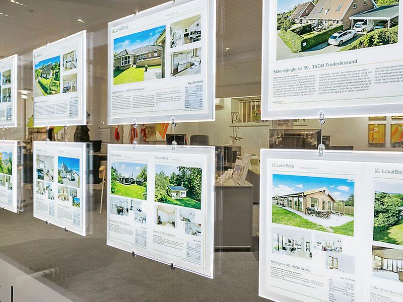 Affichage dynamique secteur immobilier écran lumineux vitrine