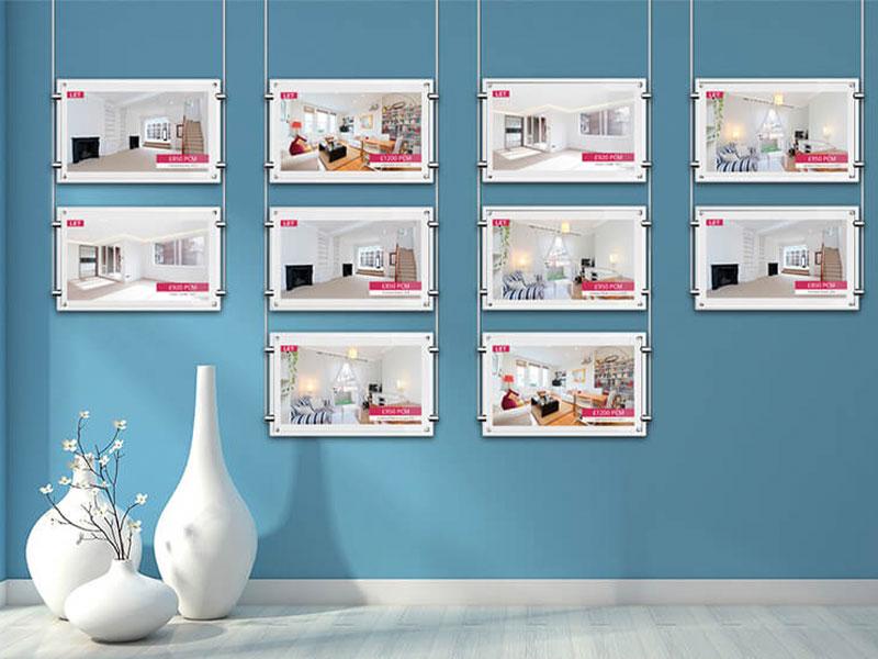 Affichage dynamique immobilier écran lumineux