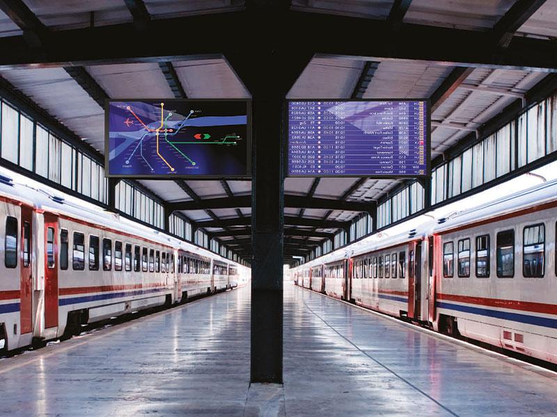 Affichage dynamique transport écran train