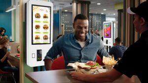 Borne tactile de paiement MC Touch fast food