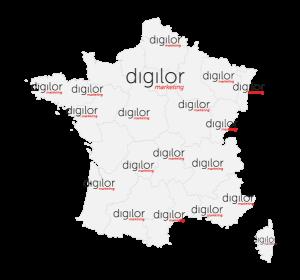 Carte France Digilor affichage dynamique