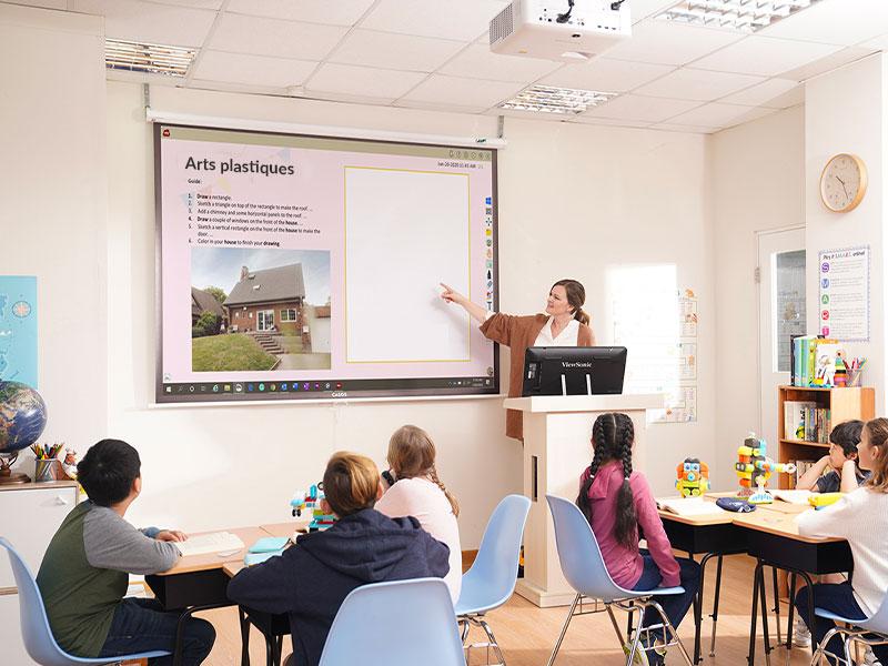 Digitalisation éducation numérique collège classe mobile