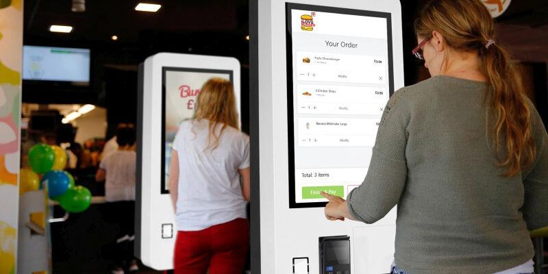 Borne paiement Mc Touch 27 pouces Fast Food