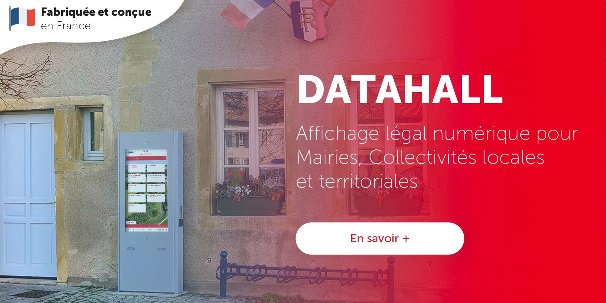 Datahall affichage légal numérique mairie
