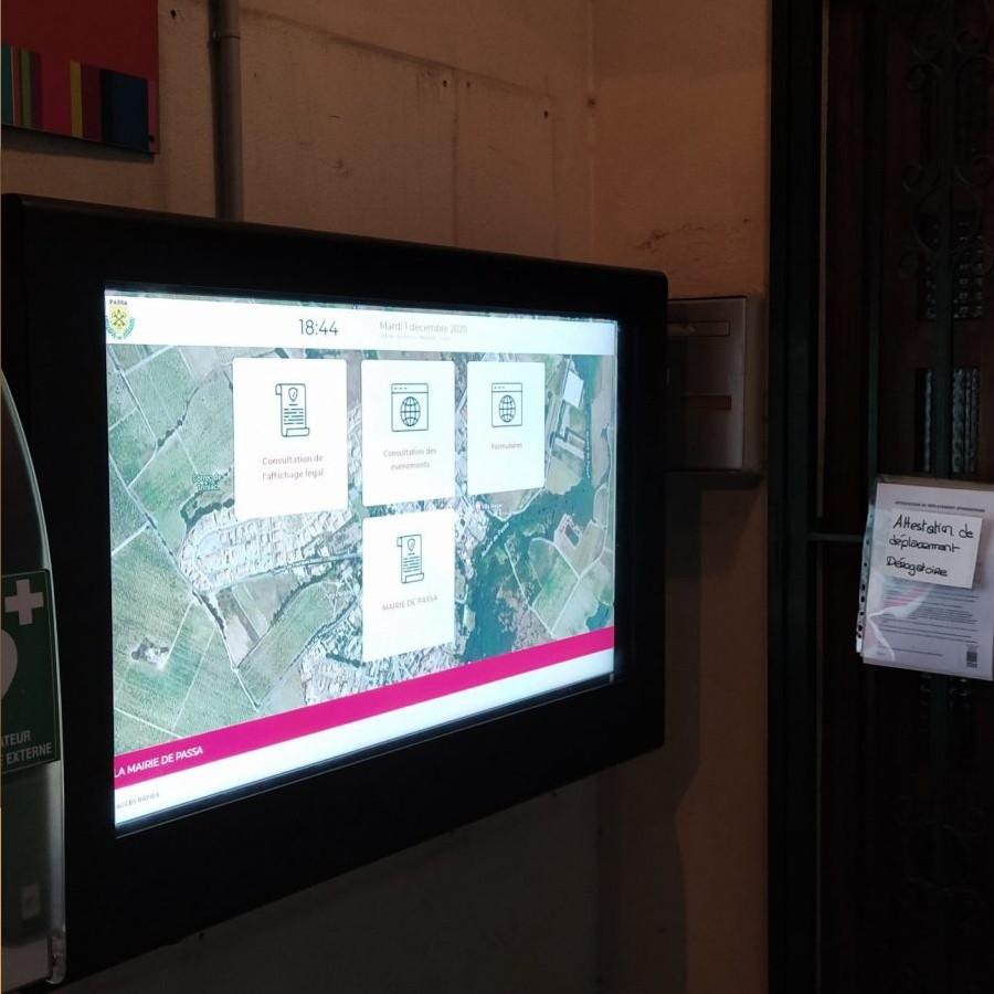 Affichage légal numérique Mairie de Gréoux les bains