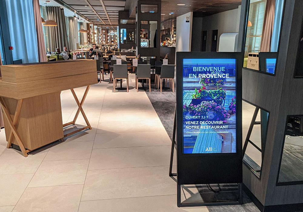 Affichage dynamique restaurant univers produits