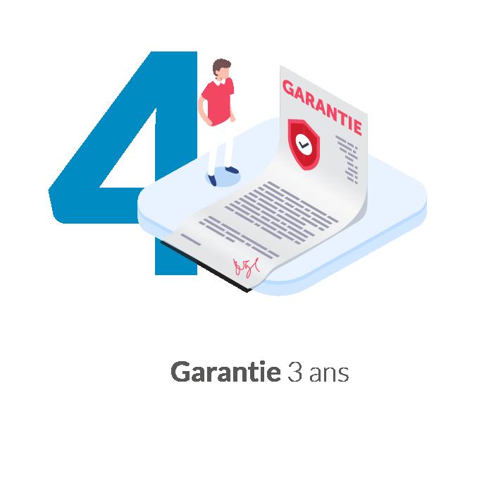 Borne internet garantie 3 ans
