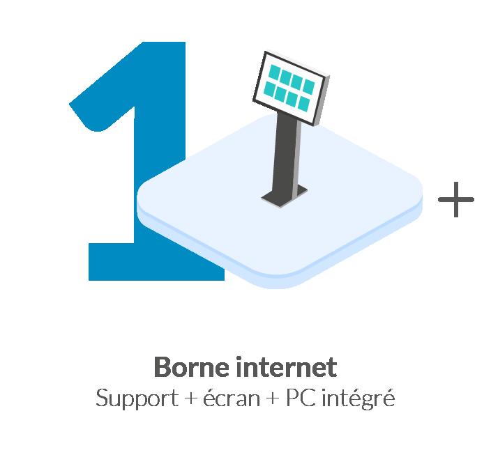 Borne internet PC intégré