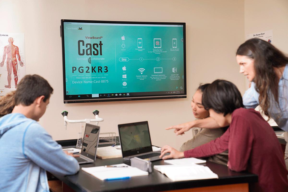 Ecran numérique interactif affichage à distance