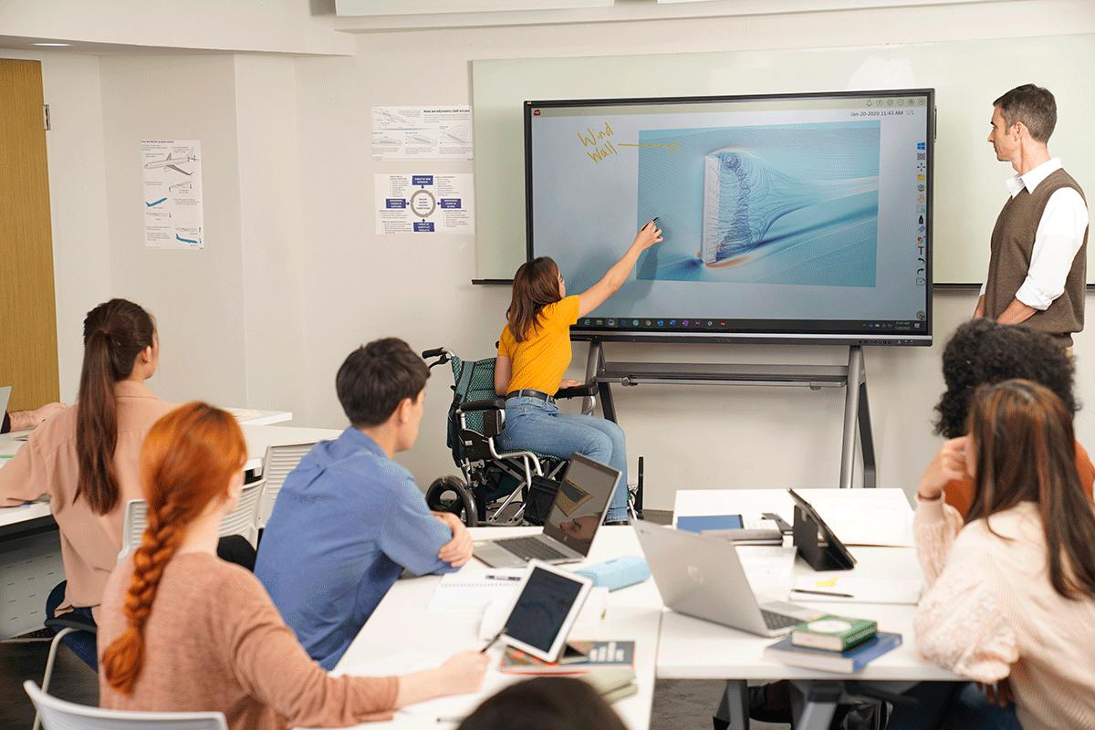 Ecran numérique interactif collège physique