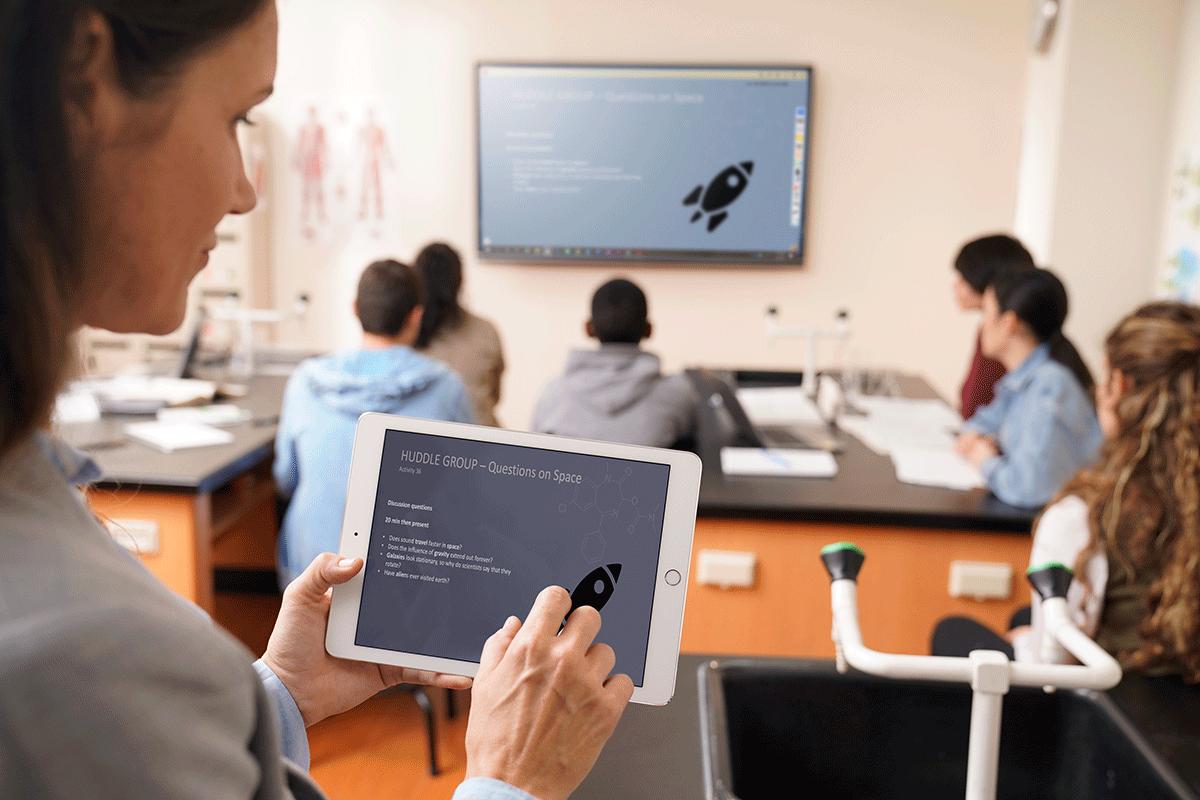 Ecran numérique interactif connexion tablette