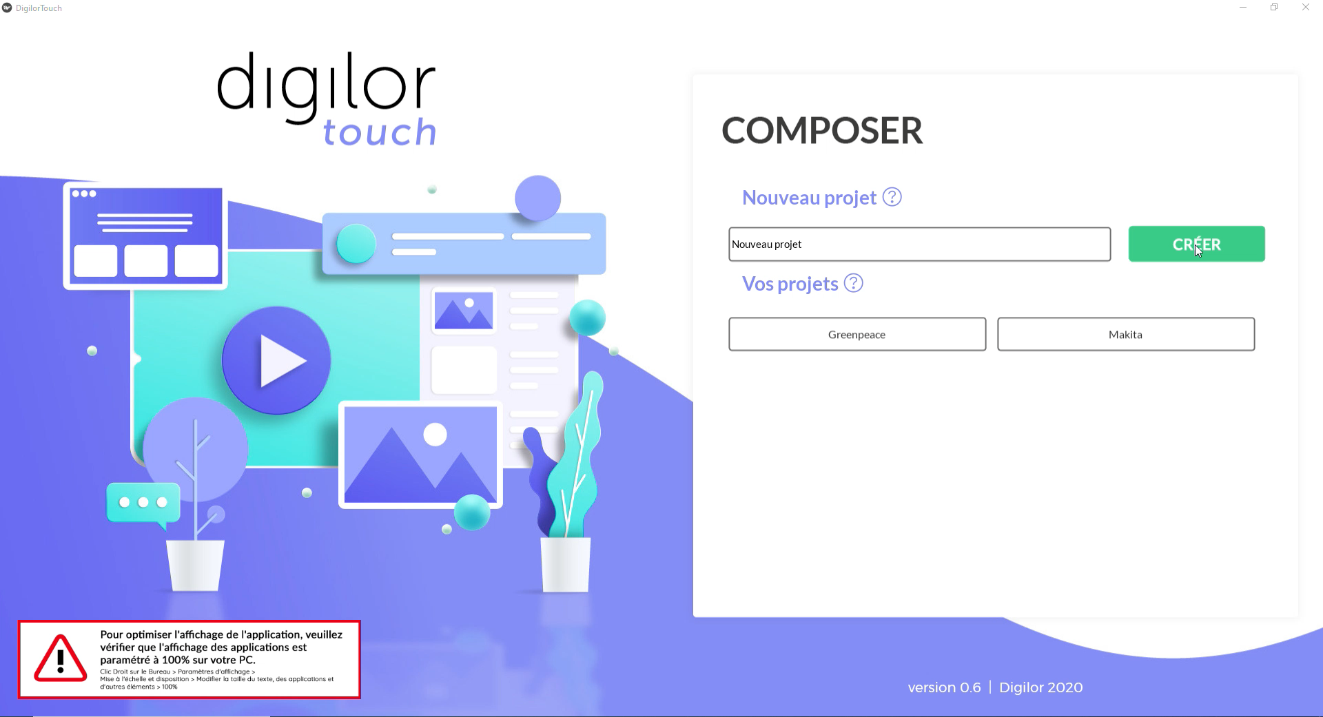 Digilor Touch Création d'applications tactiles - Back Office Accueil